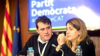 David Bonvehí y Marta Pascal en el Consell Nacional del PDeCAT (Foto: Efe).