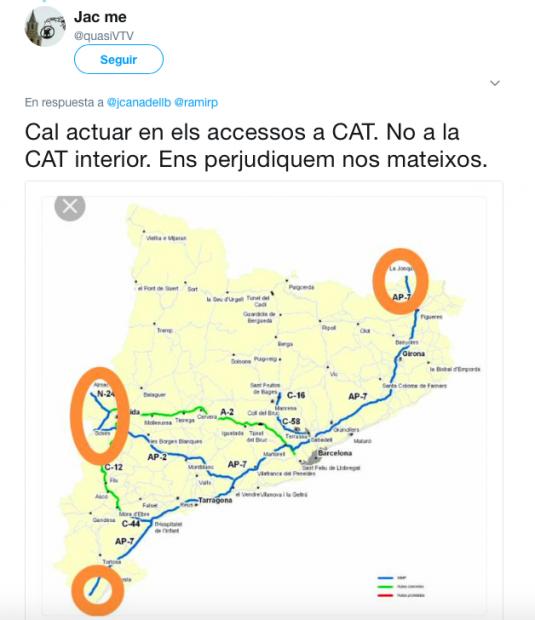Tuit plan sabotajes Renfe en Cataluña