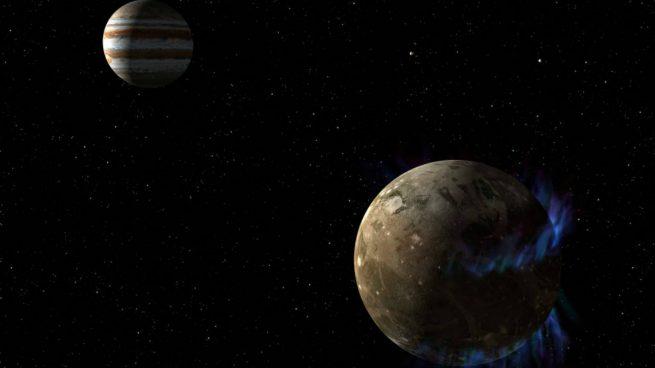 La luna Encélado de Saturno donde podría haber vida en un océano subterráneo. foto: NASA