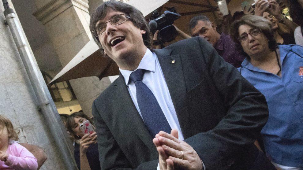 El expresidente de la Generalitat de Cataluña Carles Puigdemont. (Foto: EFE)