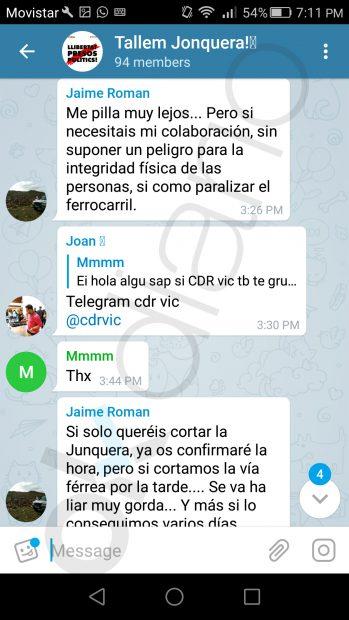 Pantallazo 1 planes de boicot Renfe en la Junquera