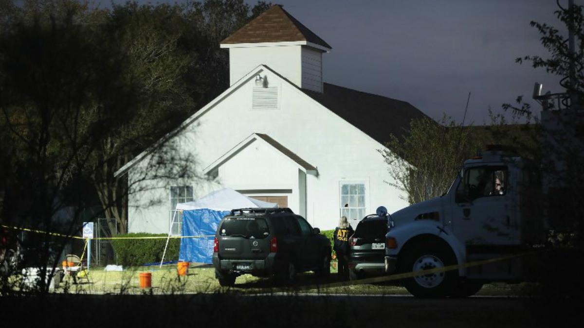 La iglesia baptista de Texas donde un hombre ha asesinado a tiros a 26 personas. Foto: AFP