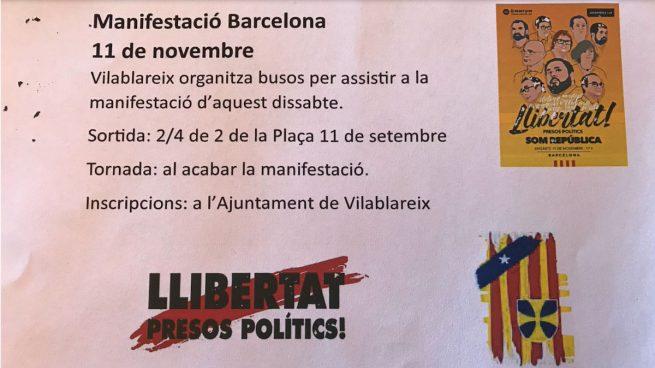 Búsqueda de autobuses para la manifestación del 11-N en Barcelona