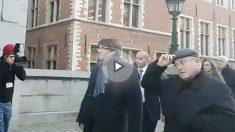 Carles Puigdemont a su llegada al BOZAR, en Bruselas.