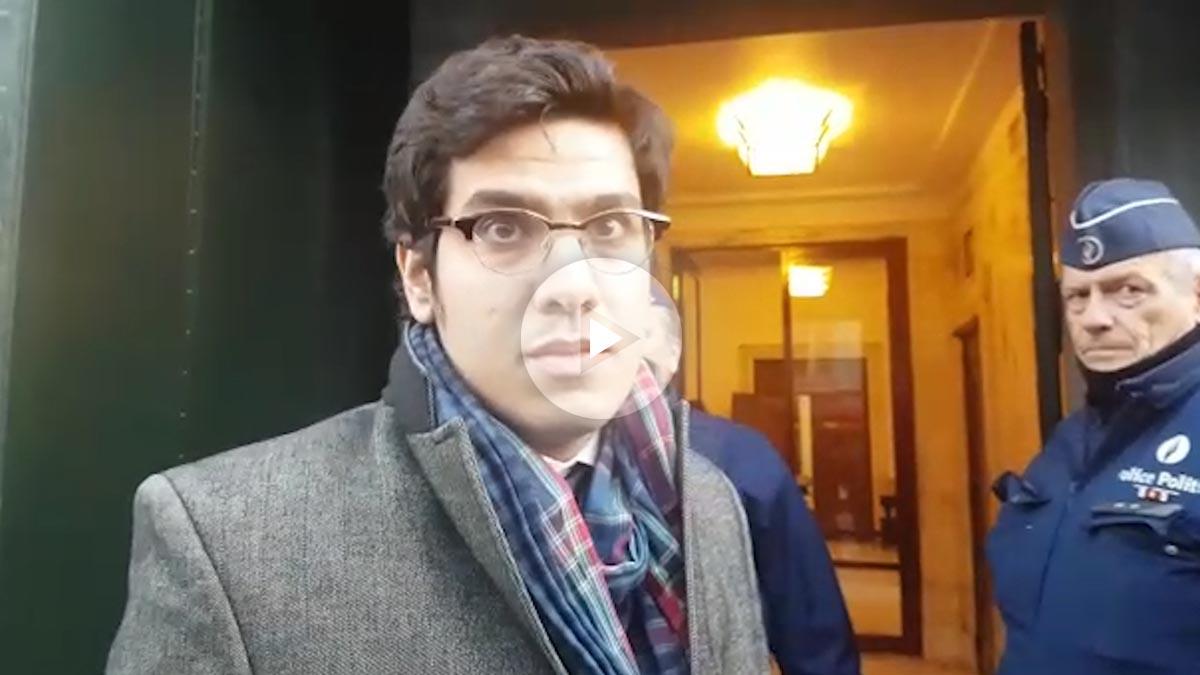 Aleix Sarri, asesor del eurodiputado Ramón Tremosa, a las puertas del BOARZ.