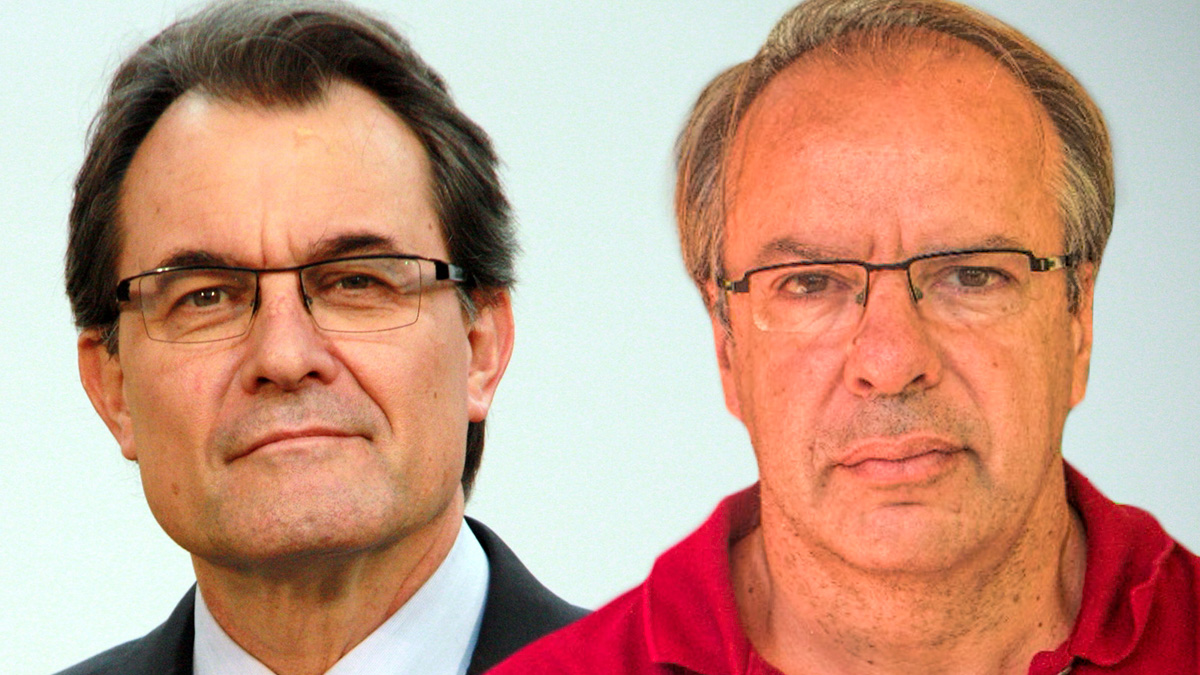 El ex presidente Artur Mas y su cuñado, Joan Antoni Rakosnik.