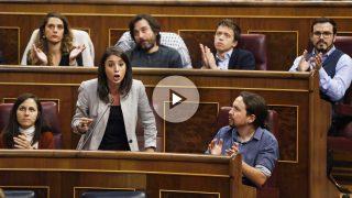 Irene Montero interviene en el Congreso de los Diputados. (Foto: EFE)