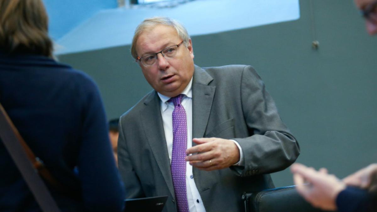 El presidente del Parlamento de Valonia (Bélgica), André Antoine.