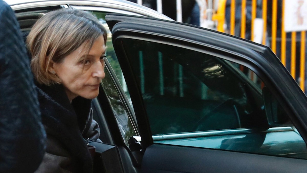 Carme Forcadell a su llegada al Tribunal Supremo (Foto: Efe).