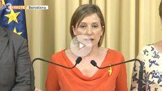 """La ex presidenta del Parlament, Carme Forcadell, afirmó hace tres semanas que """"no daremos ni un paso atrás"""""""