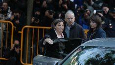 La presidenta del Parlament, Carme Forcadell, a su llegada hoy al Tribunal Supremo (Foto: Francisco Toledo)