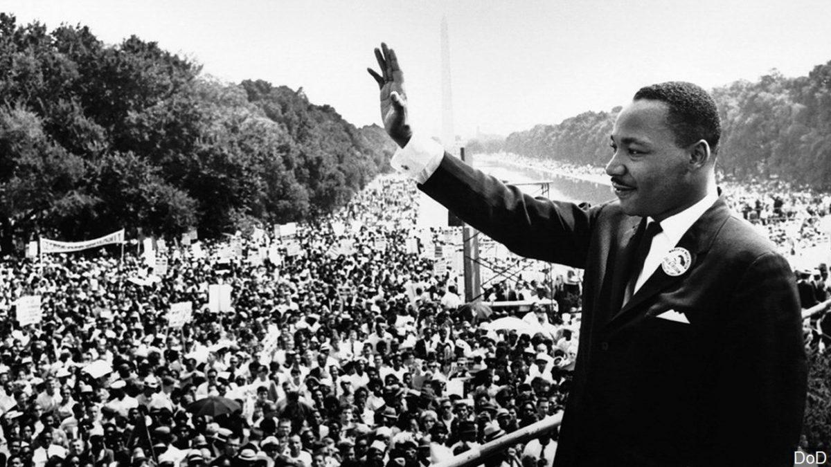 Más de 250.000 personas le acompañaron en la protesta pacifista celebrada en Washington en 1963.