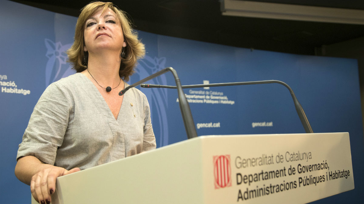 La ex consellera de Gobernación de la Generalitat Meritxell Borràs (Foto: EFE).