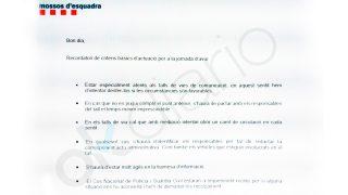 Orden de los Mossos bajo mando del Ministerio del Interior para pactar con los piquetes separatistas el 8-N