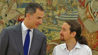 Felipe VI y Pablo Iglesias.