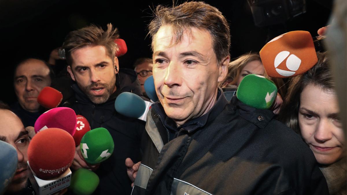 El ex presidente de la Comunidad de Madrid Ignacio González a su salida de Soto del Real. (Foto: EFE)