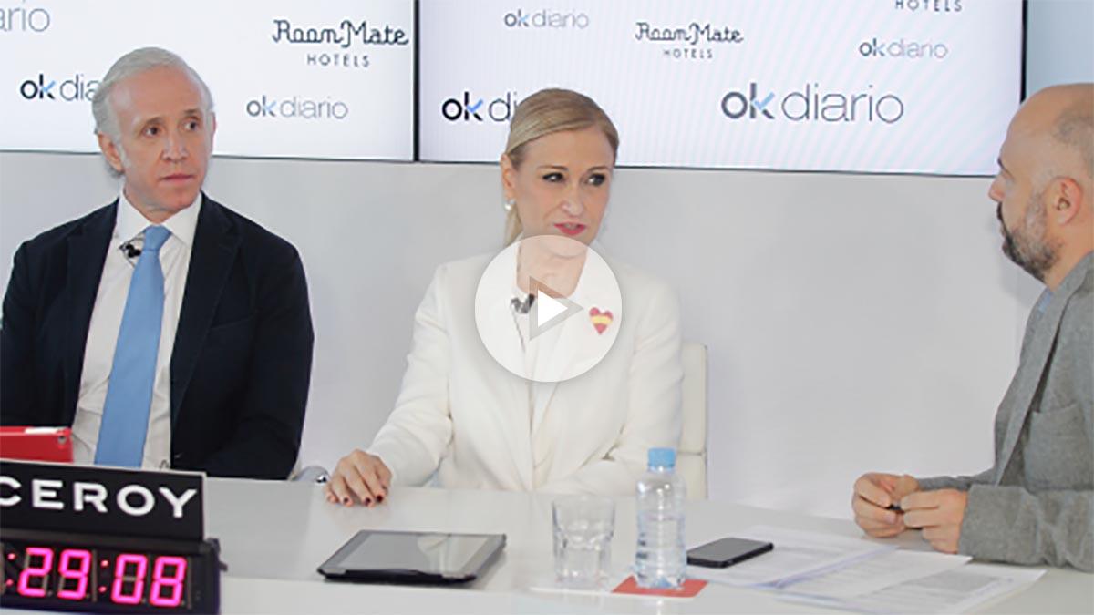 Cristina Cifuentes en el maratón de entrevistas de Okdiario (Foto: Francisco Toledo)