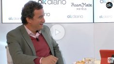 Javier Gállego, periodista y sociólogo, en el maratón de 35 horas de entrevistas.