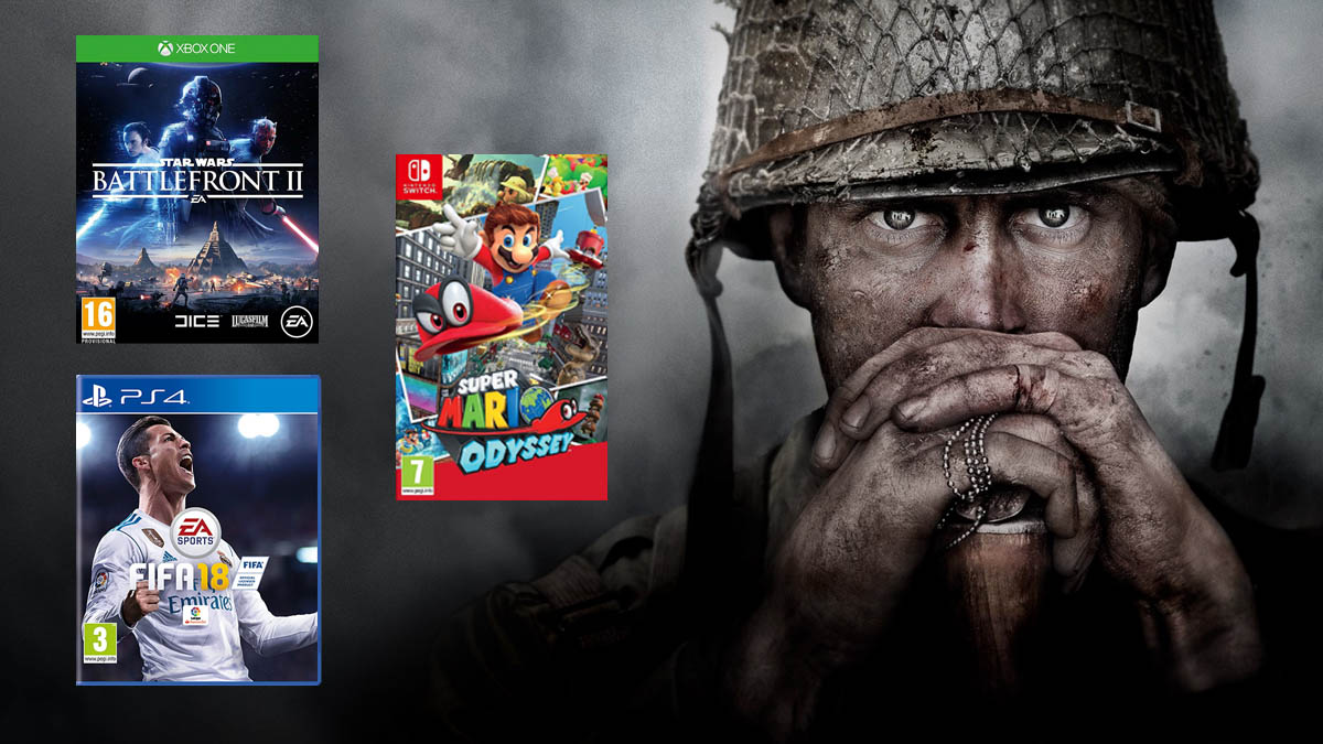 Super Mario Odyssey, FIFA 18, Call of Duty: WWII, Star Wars: Battlefron 2… Toma nota porque estos videojuegos van a arrasar en las listas de ventas