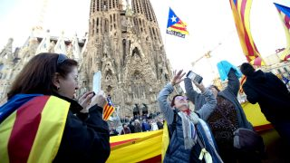 Un momento de la manifestación separatista de Barcelona (Foto: Efe).
