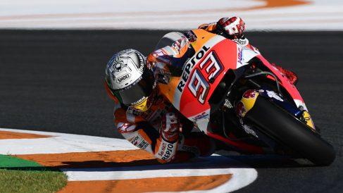 Marc Márquez logró la pole en Valencia. (AFP)