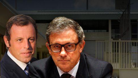 El ex presidente del Barça Sandro Rosell y Jordi Pujol Ferrusola.