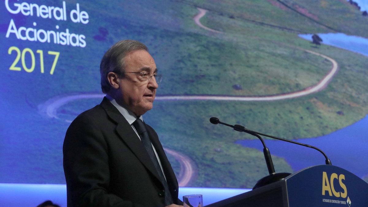 El presidente de ACS, Florentino Pérez, en la Junta General de Accionistas de este año. (Foto: EFE)