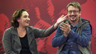 Ada Colau y Xavier Domènech. (Foto: EFE)