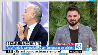 Eduardo Inda se dirige a Gabriel Rufián en 'El programa de Ana Rosa'.