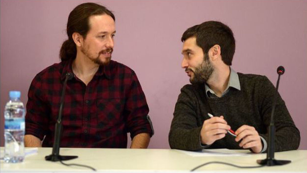 Pablo Iglesias y Pablo Bustinduy