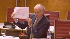 Eduardo Inda, en el Senado, este martes.