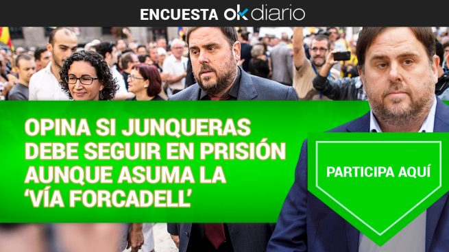 Opina si Junqueras debe seguir en prisión aunque asuma la 'vía Forcadell'