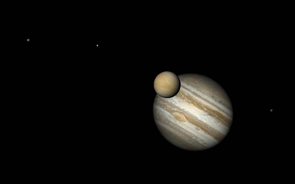 Júpiter y Venus