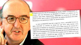 Jaume Roures y el documento que destaca su cambio de postura.