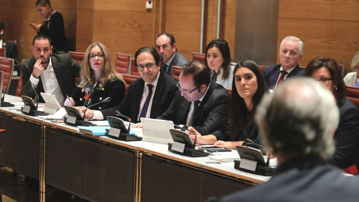Comisión de investigación de la financiación de los partidos políticos en el Senado. (Foto: Francisco Toledo)