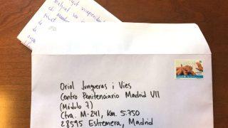 Carta dirigida a Junqueras