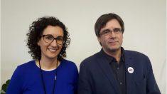 Marta Rovira y Carles Puigdemont.