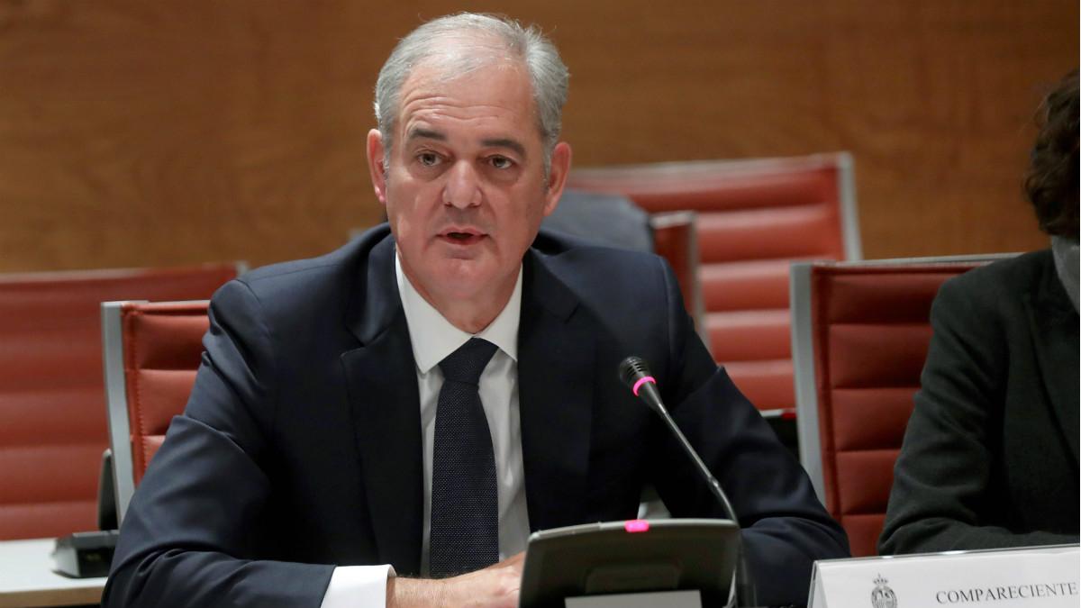 Francisco Javier Lurueña, consejero delegado de Kutxabank, en el Senado. (EFE)