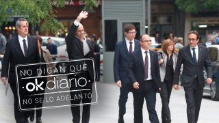 Los ex consejeros de la Generalitat de Cataluña Joaquim Forn (Interior), Dolors Bassa (Trabajo), Raul Romeva (Exteriores),Carles Mundó (Justicia), Jordi Turull (Presidencia),Maritxel Borrás (Gobernación), y Josep Rull (Territorio) (Foto: Efe)