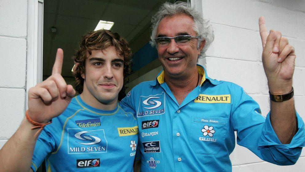 Flavio Briatore se ha rendido a Fernando Alonso en el fin de semana de su despedida de la F1. (Getty)
