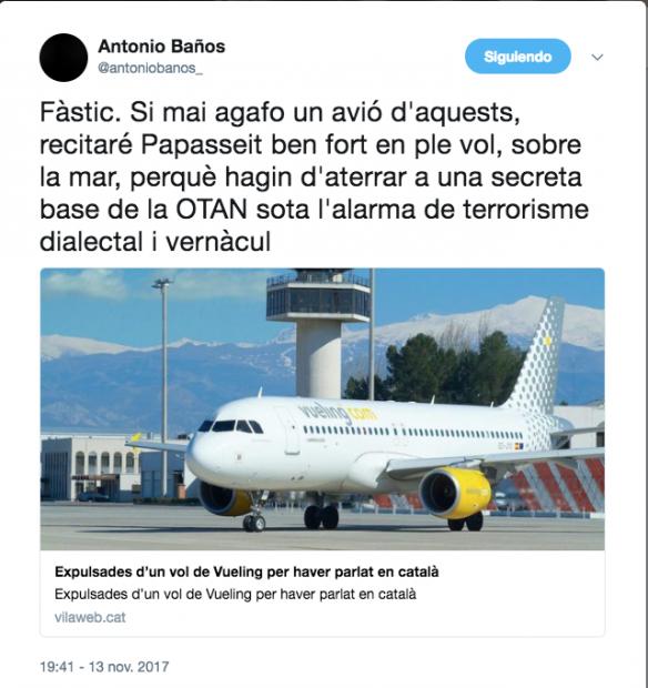 Desmontado el bulo de TV3: fueron expulsadas del avión por alborotadoras, no por hablar catalán