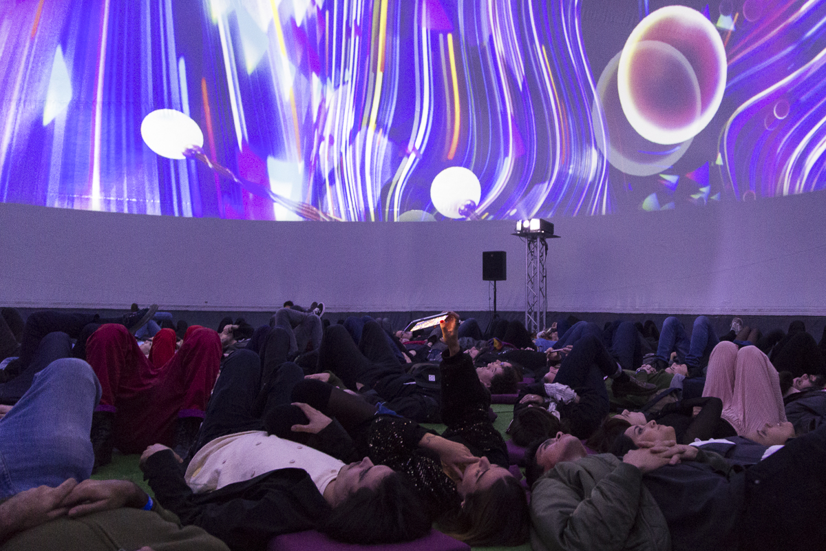 Escenario Dome en el festival MIRA 2017. Foto: Patricia Nieto Madroñero