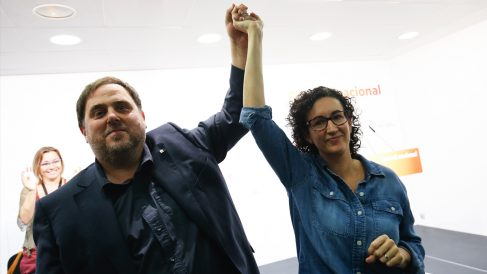 Oriol Junqueras y Marta Rovira. (Foto: ERC)