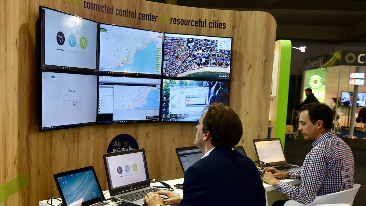 Stand de SUEZ en el Smart City Expo World Congress.