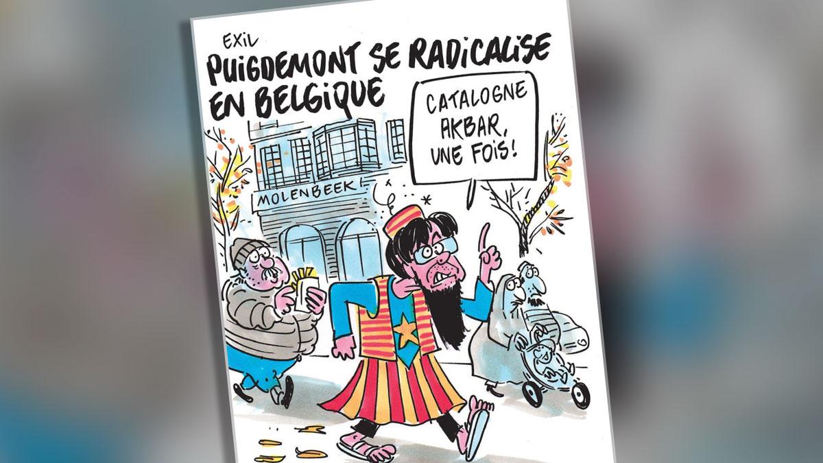 Viñeta de Charlie Hebdo dedicada a Carles Puigdemont