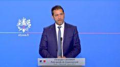 Christophe Castaner, portavoz del Gobierno francés y líder del partido de Emmanuel Macron, LREM.