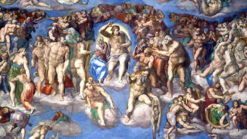 Una de las pinturas de Miguel Ángel: 'El Juicio Final'.