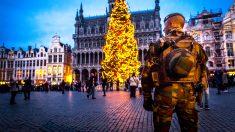 Medidas extremas de seguridad en Bruselas ante la llegada de la Navidad. (Foto: AFP)