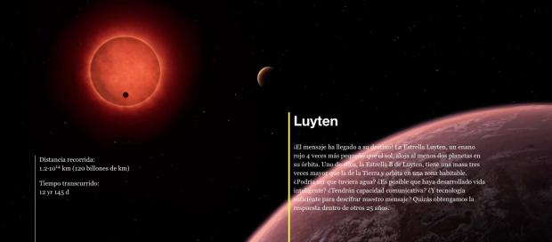El exoplaneta GJ273b, conocido como 'Estrella B de Luyten' se encuentra a 120 billones de KM de la Tierra. Foto: SónarCalling