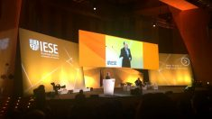 El general Félix Sanz Roldán, director del CNI, este viernes en la IESE Global Alumni Reunion (GAR)  celebrada en el Palacio de Congresos de Madrid.